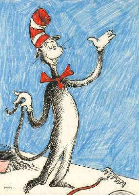 Artist: Dr. Seuss  , Title: The Cat that Changed the World - click for larger image