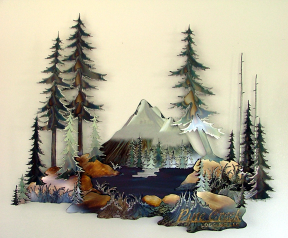 Donnie Wanner Commissioned One Of A Kind Metal Wall Sculptures