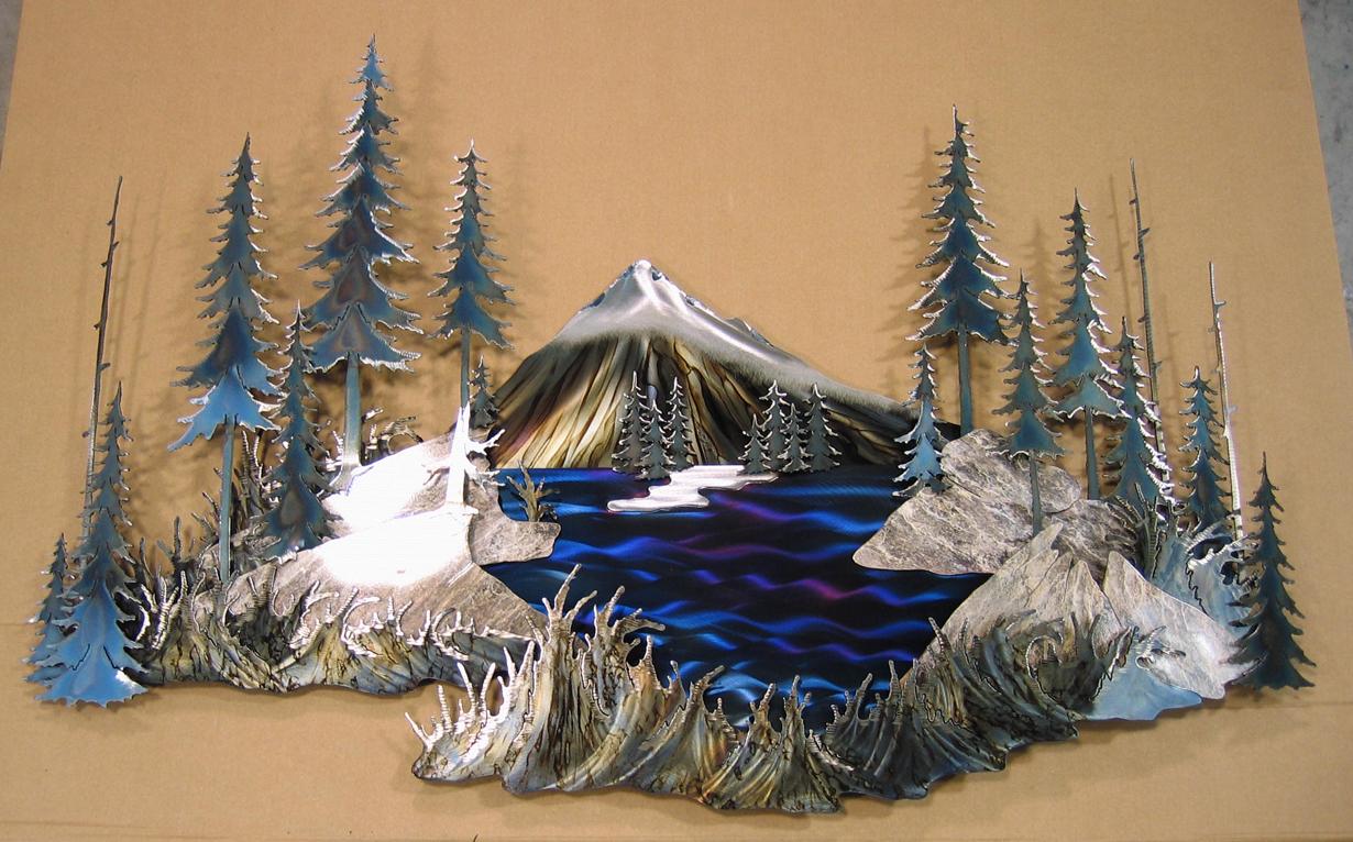 Metal Wall Art Mountain Landscapes : Mountain metal wall art bing images